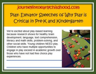 Why is Play Critical  journeyintoearlychildhood.com