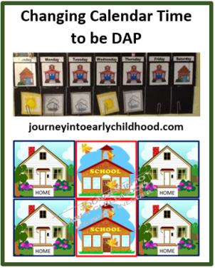 DAP Calendar Time journeyintoearlychildhood.com