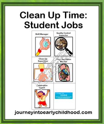 Jobs for Clean Up Time journeyintoearlychildhood.com