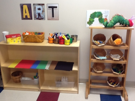 Beutifully designed art center to encourage creativity journeyintoearlychildhood.com