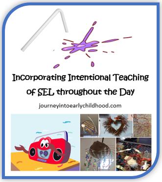 Intentional Teaching of SEL journeyintoearlychildhood.com