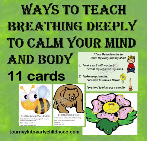 Variety of Ways to Teach Deep Breathing journeyintoearlychildhood.com