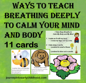 Variety of Ways to Teach Deep Breathing journeyintoearlychildhood.com