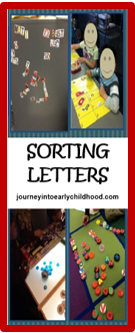 Sorting Letters- FREE DOWNLOAD labels to sort in multiple ways journeyintoearlychildhood.com