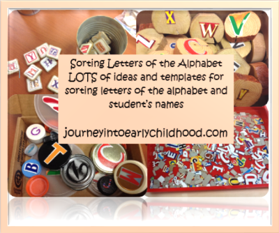 Teaching Letters of the Alphabet: SortingLetters