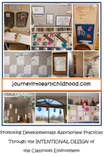 intentional design of environments journeyintoearlychildhood.com