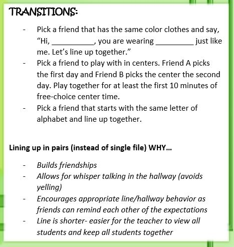 transitions to build friendships journeyintoearlychildhood.com