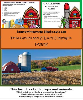 STEAM challenges and provocations FARMS journeyintoearlychildhood