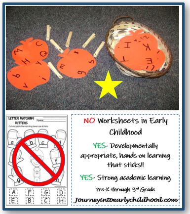 No Worksheets in Early Learning PartIII
