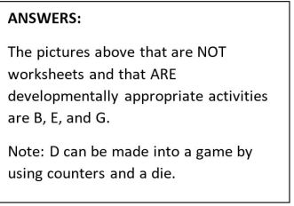 no worksheets answers