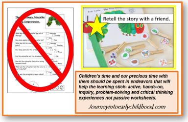 NO Worksheets in Early Childhood PartIV