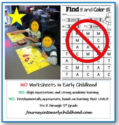 no worksheets part 1