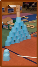 building with cups