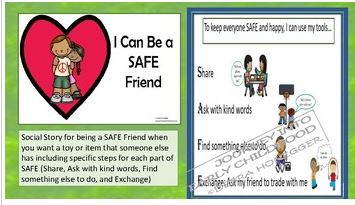 I Can be a SAFE Friend Social Story