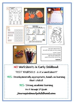 NO Worksheets in Early Learning: TestYourself