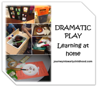 dramatic play journeyintoearlychildhood.com learning at home