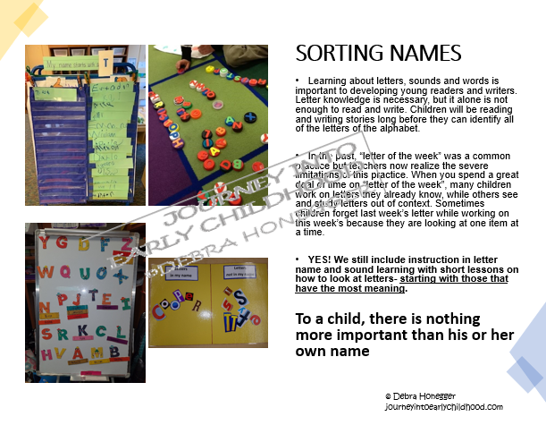 Home Learning Sorting Names