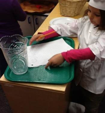 Change kitchen area into a restaurant Learning through Play journeyintoearlychildhood.com