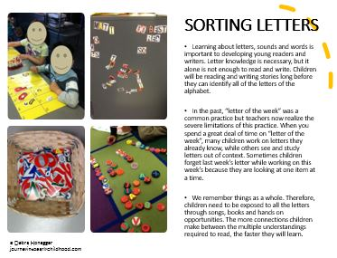 Sorting Letters - Home Learning