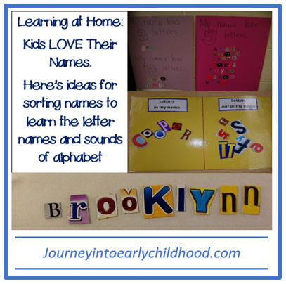 sorting names learning at home journeyintoearlychildhood.com