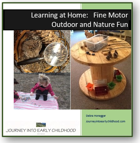 fine motor fun using nature and being outdoors journeyintoearlychildhood