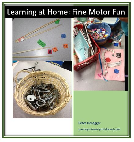 Learning at Home Fine Motor Fun journeyintoearlychildhood