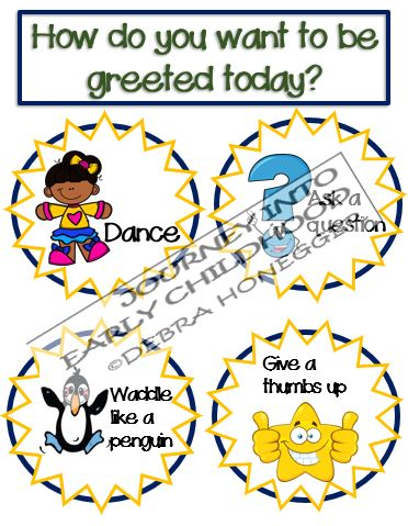 Greeting Ideas with No Touching journeyintoearlychildhood