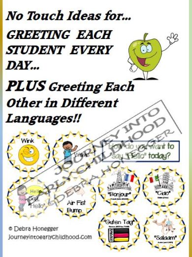 Greetings No Touch and Different Languages journeyintoearlychildhood